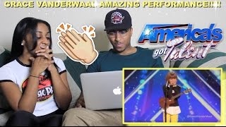 Couple reacts : grace vanderwaal, ukulele player gets golden buzzer reaction!!!
