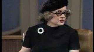 Bette Davis talks about sexual repression