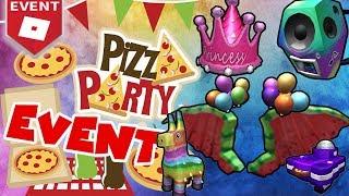 🍕 Pizza PARTY Evento en Roblox 🍕 ¿Cómo obtengo todos los artículos gratis en nuestro inventario?! 🍕
