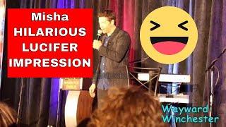 Misha Collins Does A HILARIOUS Mark Pellegrino's Lucifer Impression SPNORLCON 2017