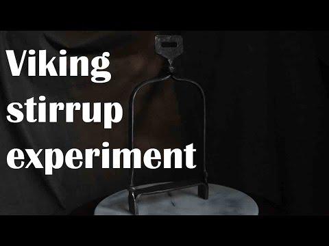 Blacksmithing: anglo-saxon stirrup experiment.