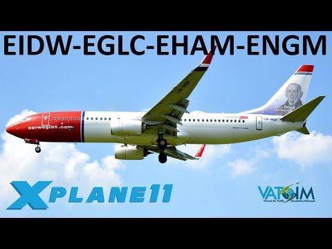 X-Plane 11 | London City, Amsterdam & Norway!! | Back to Europe | A319 Crj200 B737U | VATSIM