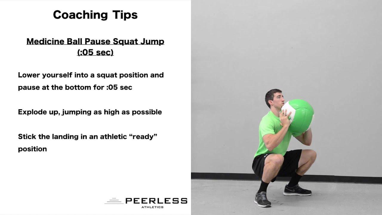 568  Medicine Ball Pause Squat Jump (:05sec)