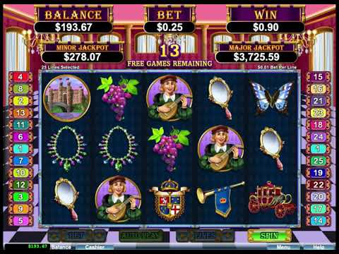 Regal Riches Online Casino Slot Bonus Game Big Win! - 동영상