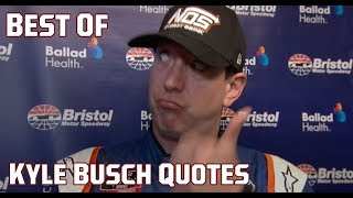 Gambar cover Love him or not: Kyle Busch's funniest quotes of all time