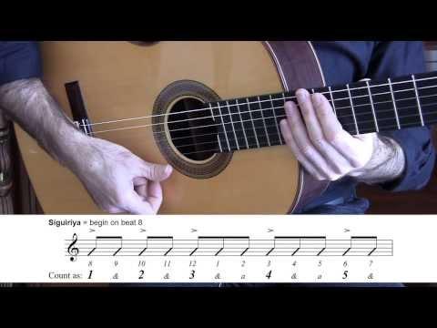 Flamenco 12 beat explanation & notation | Example: Soleá, Buleria, Siguiriya | Diego de Oro