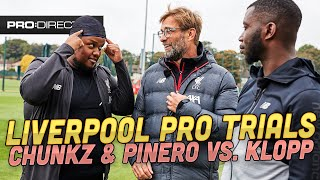 Chunkz & Harry Pinero ft. Klopp & Mane - Liverpool Pro Trials Challenge - Win Mané Signed Boot!!