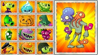 Top 50 Plants vs Octo Zombie Plants vs Zombies 2 Every Plant Power UP vs Octo Zombie All Levels