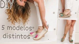 DIY Cómo hacer 5 MODELOS de SANDALIAS o alpargatas paso a paso /Sandals summer 2019