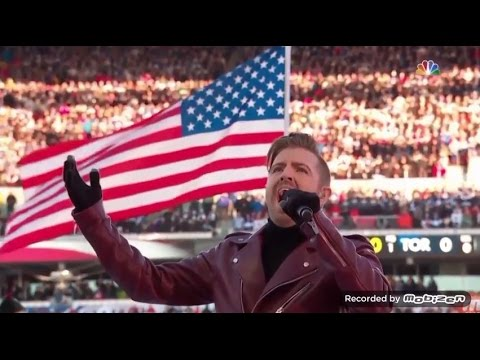 Billy Gilman singing the National Anthem @2017 NHL Centennial Classic