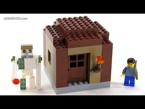 LEGO Minecraft Iron Golem & small villager house MOCs - YouTube