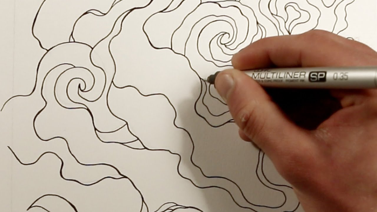 Making an Adult Coloring Book: Smokey Clouds - YouTube