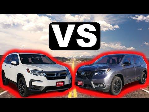 2020 Honda Pilot vs 2019 Honda Passport | What are the differences?