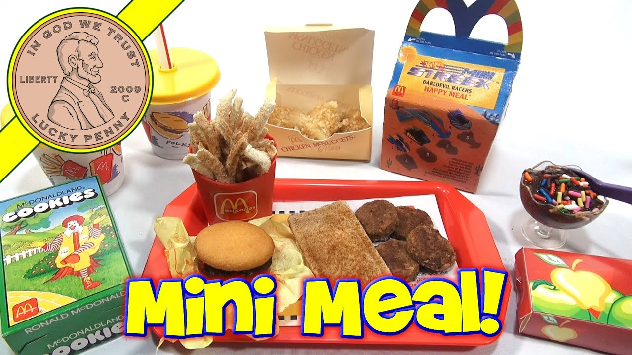 McDonald's Mini Happy Meal - Complete Toy Food Maker - YouTube