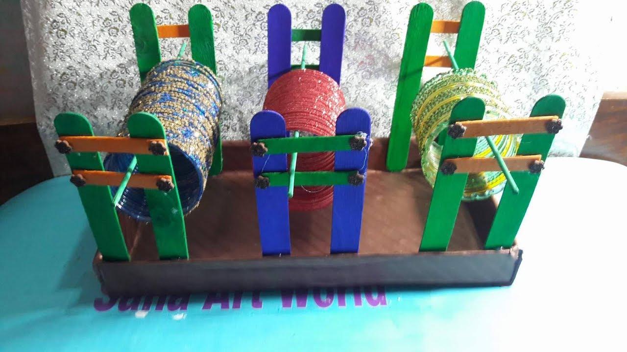 Make Bangle Stand With Shoes Box | How To Make Bangle Stand At ...