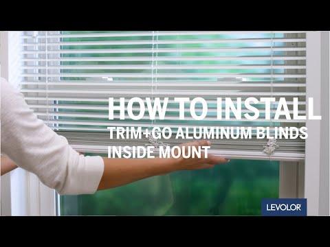 How to Install LEVOLOR Trim+Go™ Aluminum or Vinyl Blinds - Inside Mount