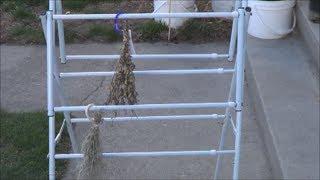 How To Dry Fresh Herbs. Make A Herb Drying Rack! Diy