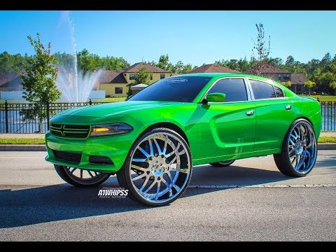Slime Green Dodge Charger On 32s Forgiato