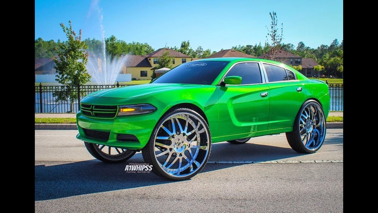 Slime Green Dodge Charger On 32s Forgiato Youtube