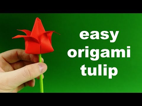 How To Make Easy Paper Tulip Origami Flower