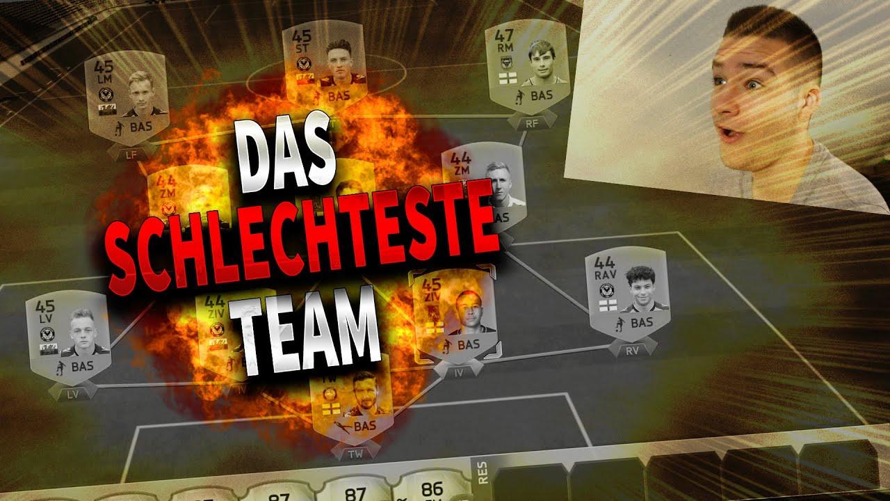 Schlechteste Mannschaft Fifa 16