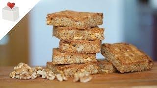 Blondie con Nueces y Chips de Chocolate Blanco  | Recetas por Azúcar con Amor