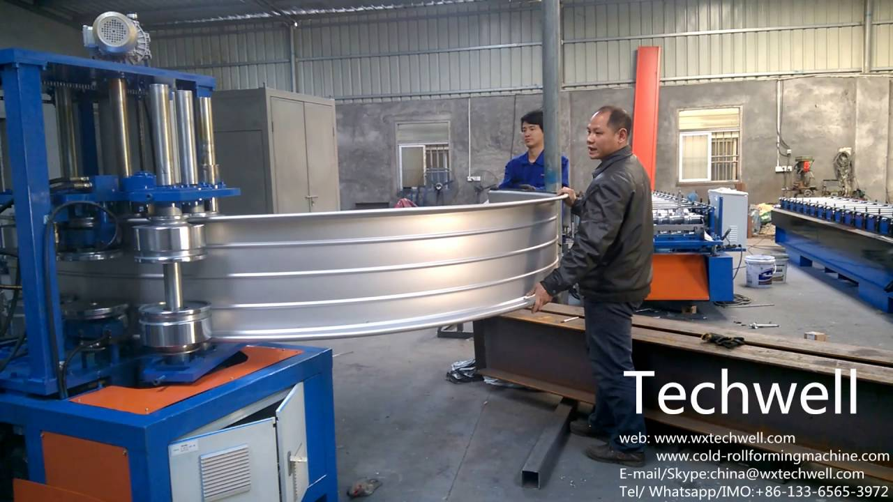 Standing Seam Roof Curving Machine To Curve Roof Wall