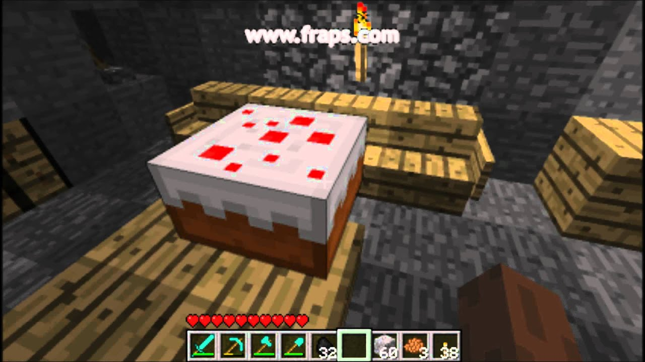 Minecraft Como Fazer Bolo Youtube