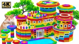 ASMR Video | How To Build Contemporary Rainbow Art Museum For Pets