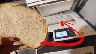 What happens if you photocopy bread