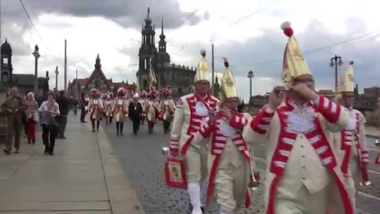 Impressionen - Kölner Prinzen-Garde zu Besuch in Dresden bei Bischof Koch