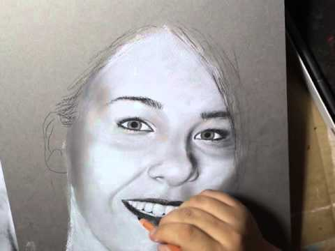 Black And White Pastel Portraits