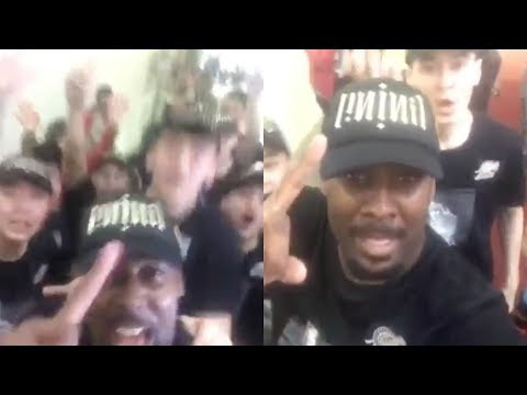 Andray Blatche's reaction after winning the CBA Finals   Xinjiang Flying Tigers