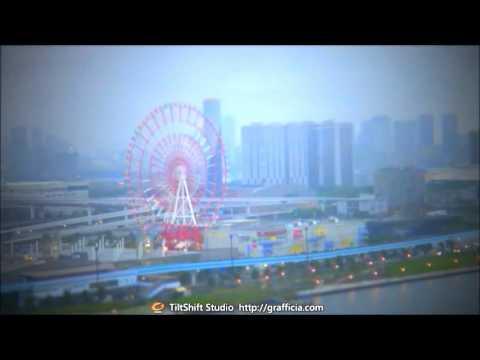 ミニチュア風動画 - テレコムセンター 展望台 Telecom Center Station 東京 Tokyo -