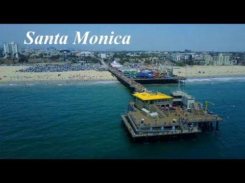 Santa Monica Pier Drone Footage (DJI Mavic Pro)