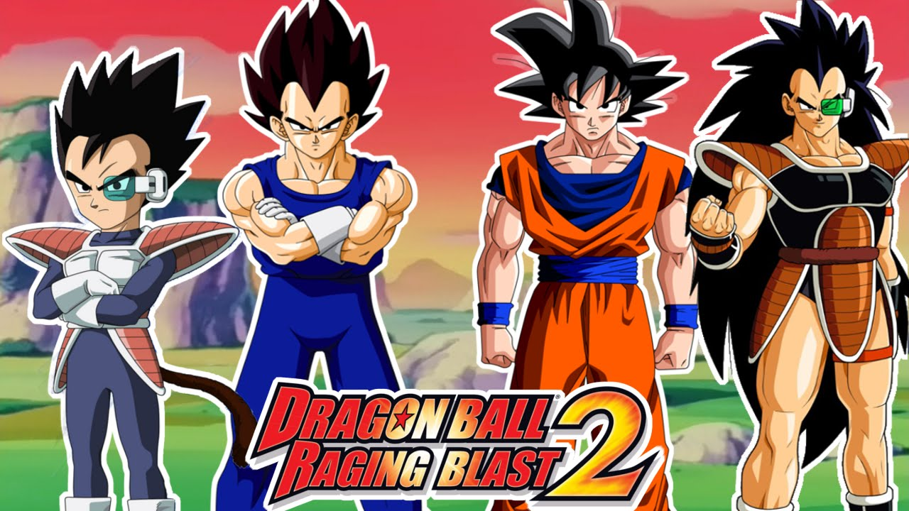 dragon ball raging blast 2 vegeta y tarble vs goku y