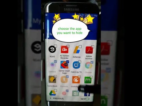 How To Hide Apps On Samsung Galaxy S7/Edge/S6/Note5/4 **No Rooting Required**