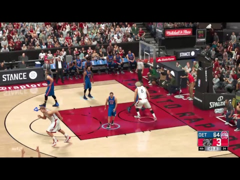NBA 2K17 Detroit PISTONS VS Toronto RAPTORS
