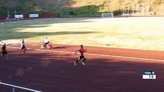 Another white running 100m under 10s