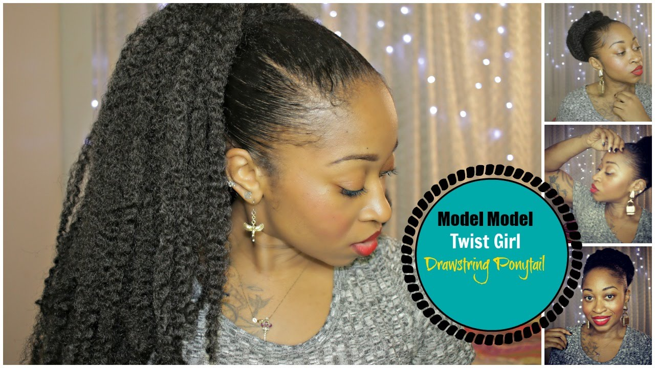 Model Model Marley Hair Drawstring Ponytail High Bun Or