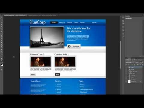 - Free Website Design Tutorial - Designing A Professional Website Using Photoshop CS6/CS5