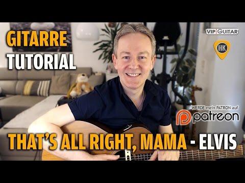 Tutorial - That's all right Mama - Elvis Presley - Rhythmusgitarre