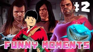 GTA 5 - EPIC FUNNY RANDOM MOMENTS!! #2 ! - TIBURONES,AVIONES,BORRACHO Y MAS!!- PREESPECIAL 100.000