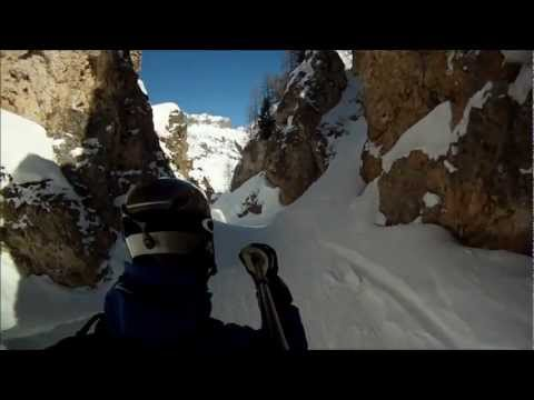Heli rescue in Vallee Perdue canyon - below the Tommeuses lift - Tignes, France