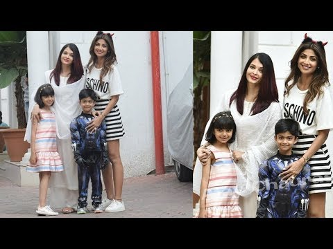Aishwarya and Aaradhya Bachchan looking so happy in Shilpa Shetty's son Viaan Kundra's brday party