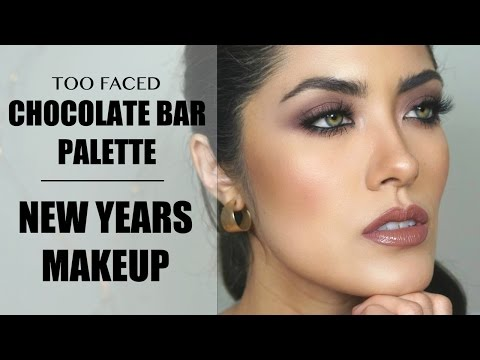 Another Too Faced Chocolate Bar palette tutorial + New Years Makeup Inspo | Melissa Alatorre thumbnail