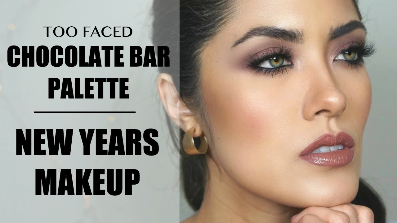 Another too faced chocolate bar palette tutorial new years another too faced chocolate bar palette tutorial new years makeup inspo melissa alatorre youtube baditri Images