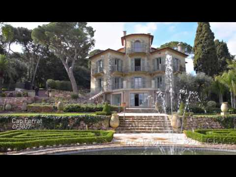 Chateau La Cima, luxury villa for Sale in Nice with views over Villefranche Bay