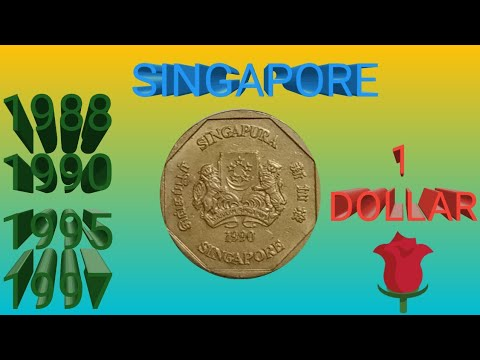 1988-1997 Singapore 1Dollar Gold Coin