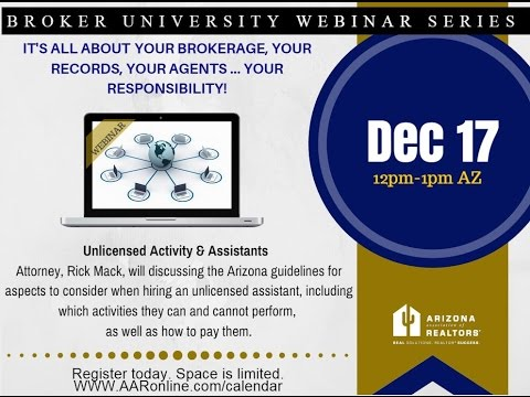 Broker University: Unlicensed Activity 12.17.15